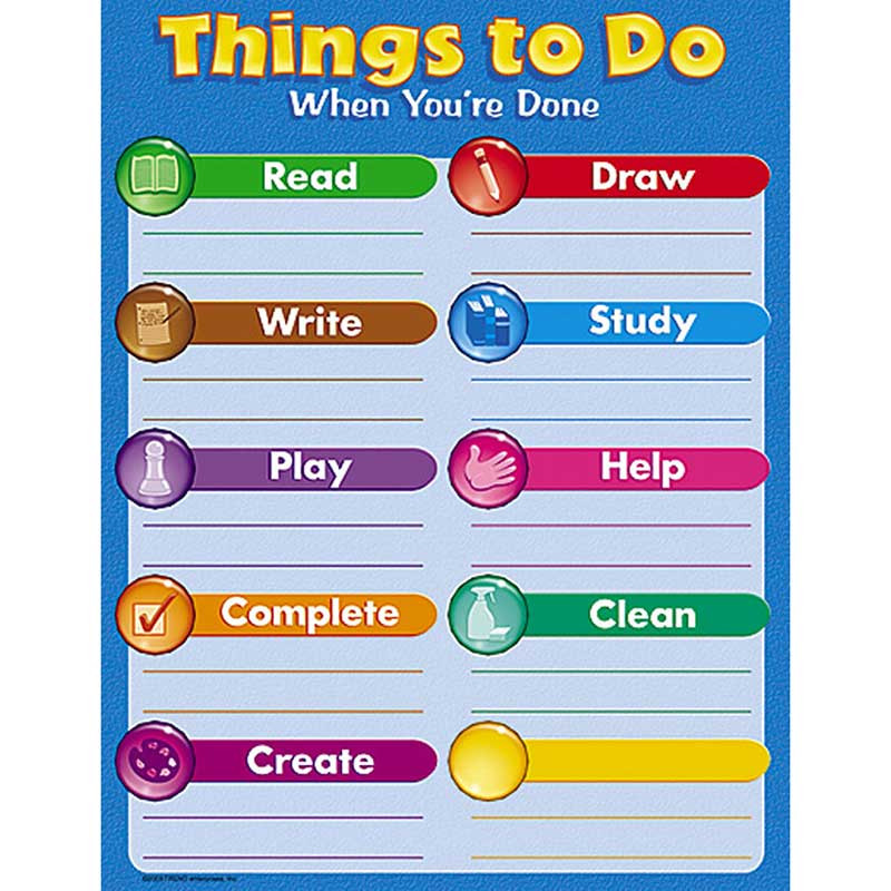 T-38113 - Chart Things To Do When Youre Done in Miscellaneous