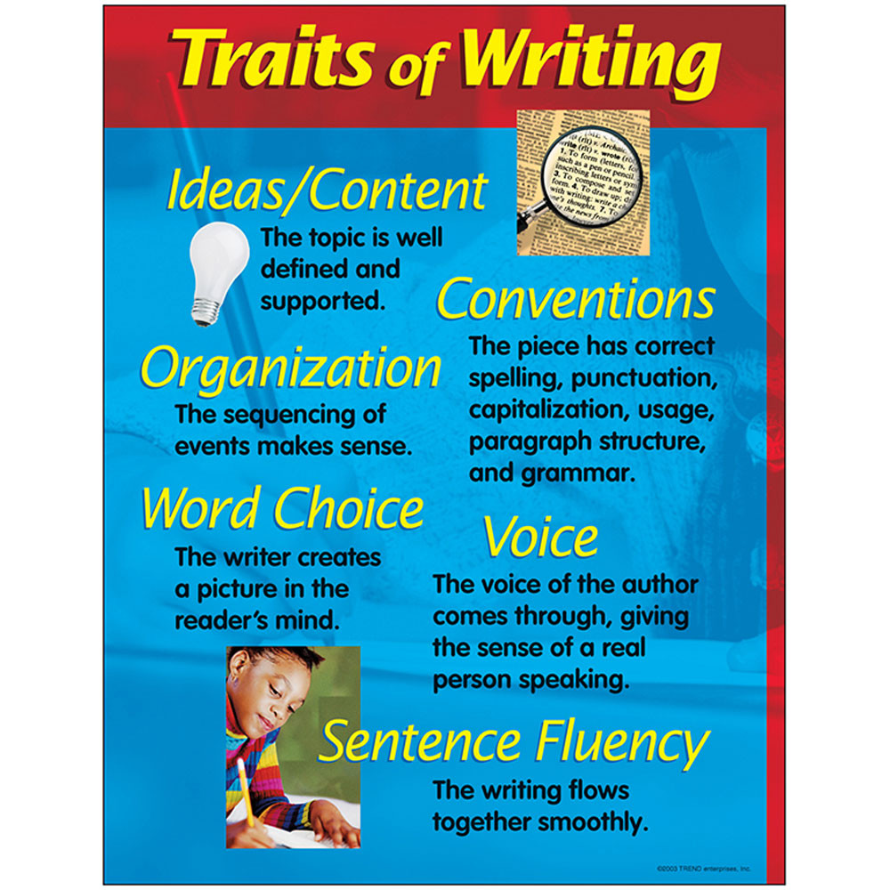 T-38126 - Chart Traits Of Writing 17 X 22 in Language Arts
