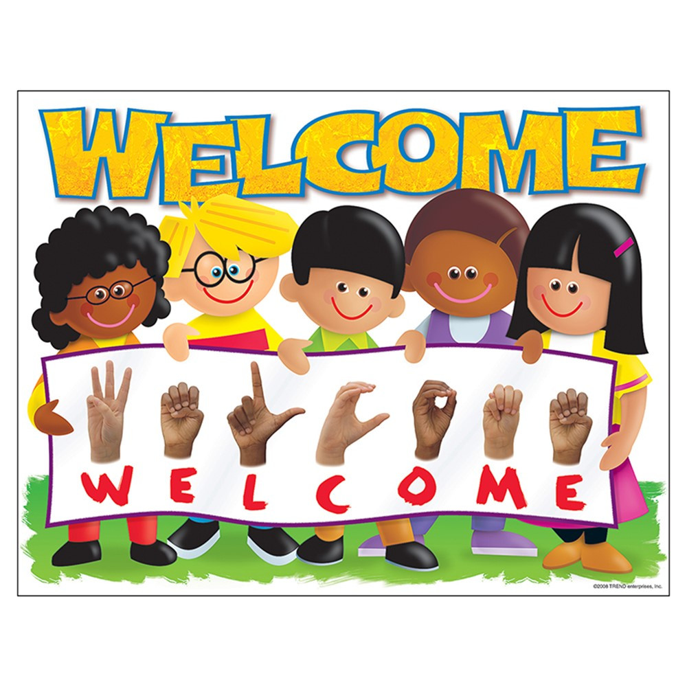 T-38266 - Chart Sign Language Welcome Trend Kids in Miscellaneous
