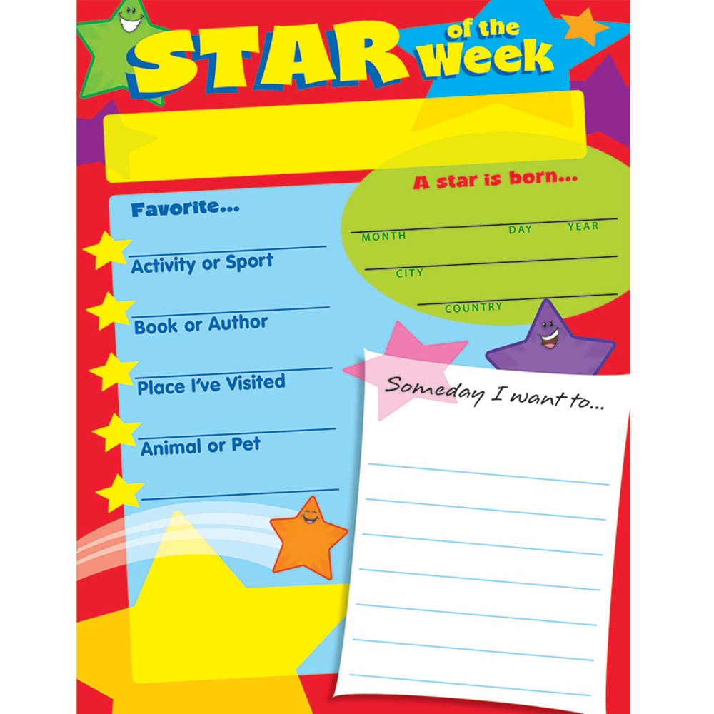 T-38268 - Learning Chart Star Of The Week in Motivational