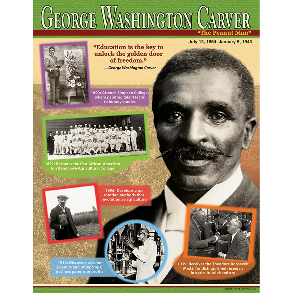 T-38306 - George Washington Carver Learning Chart in Social Studies