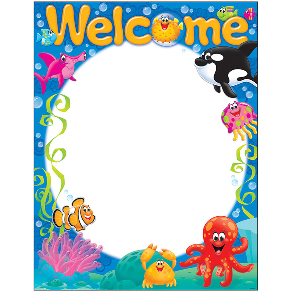 Welcome Sea Buddies Learning Chart on Free Alphabet Charts
