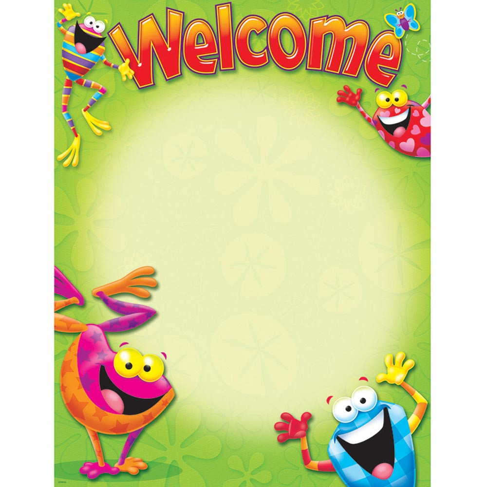 T-38413 - Welcome Frog-Tastic Learning Chart in Classroom Theme