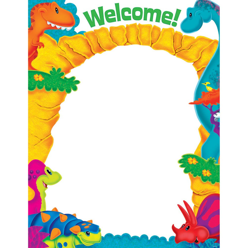 T-38487 - Welcome Dino-Mite Pals Learning Chart in Classroom Theme