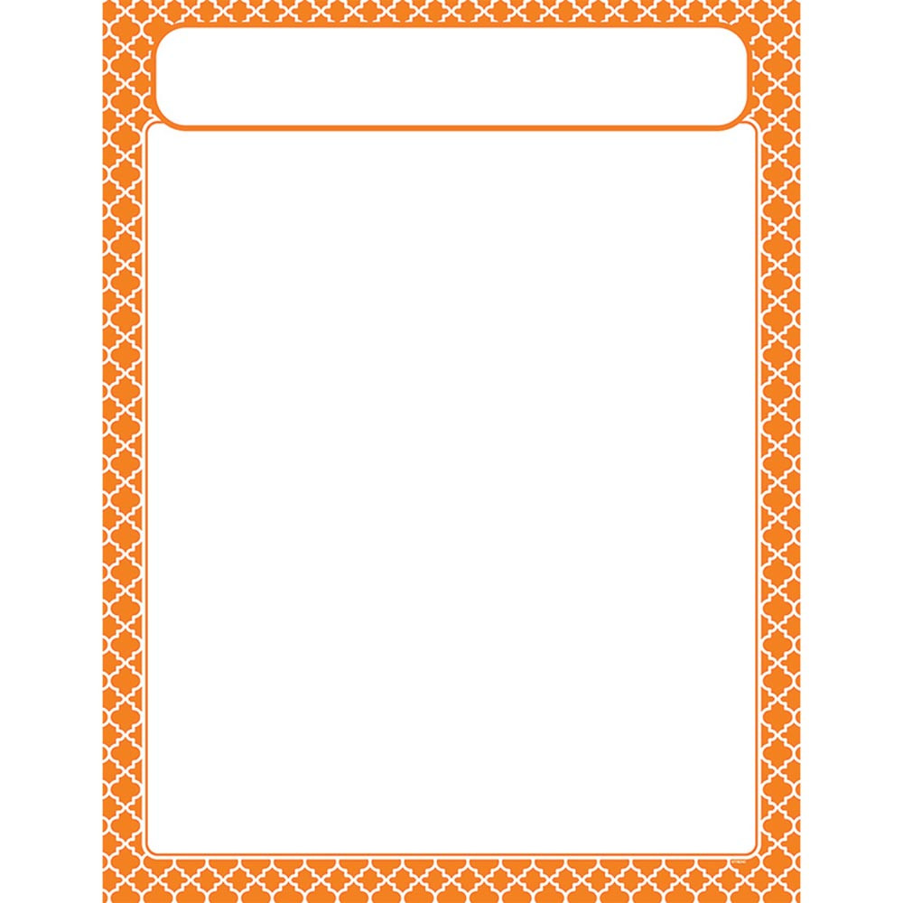 T-38605 - Moroccan Orange Learning Chart in Classroom Theme