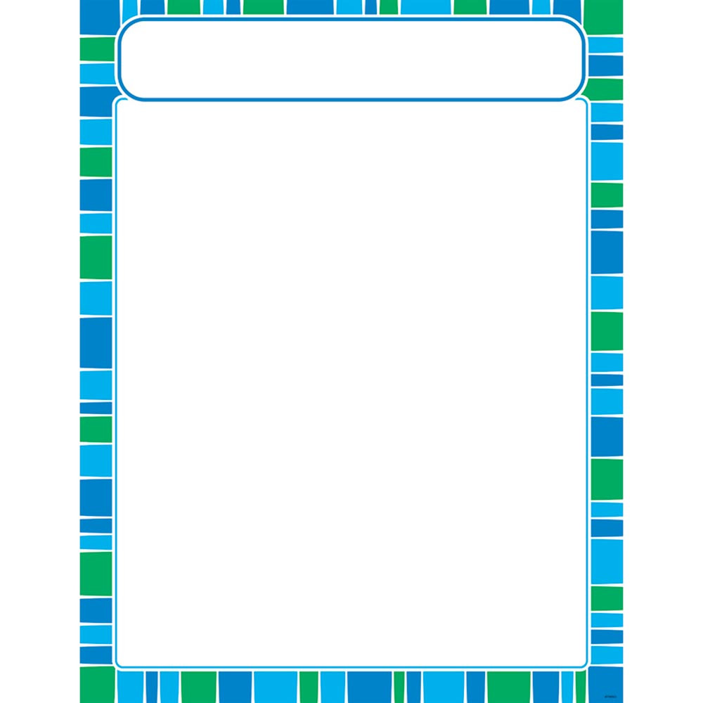 T-38635 - Stripe-Tacular Cool Blue Learning Chart in Classroom Theme