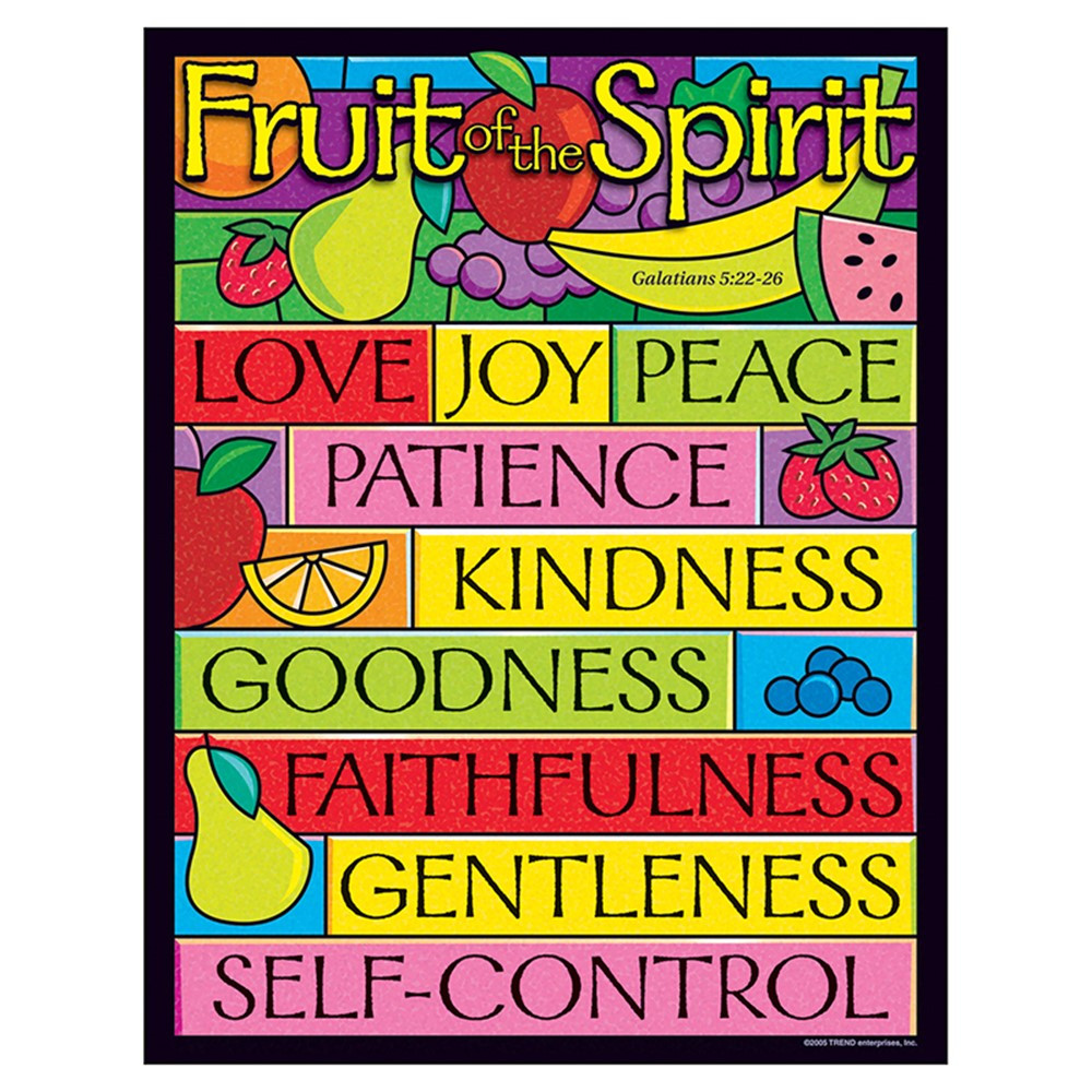T-38708 - Learning Chart Fruit Of The Spirit in Inspirational