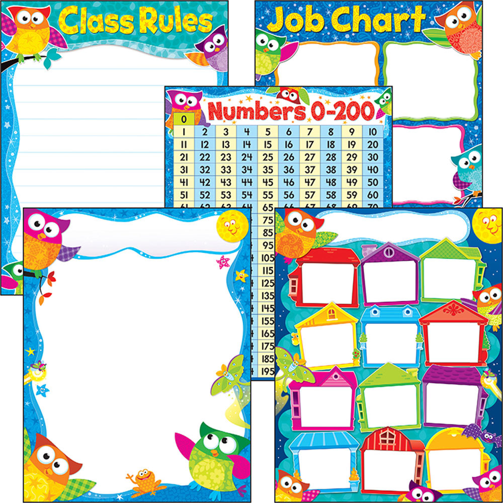 Owl Stars Classroom Decorations ~ More classroom basics owl stars learning charts combo