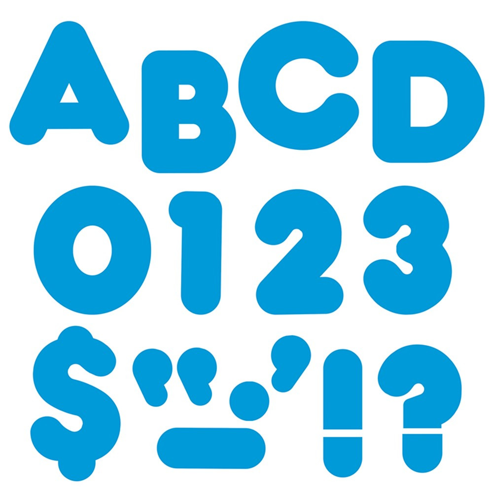 T-435 - Ready Letters 2 Inch Casual Blue in Letters