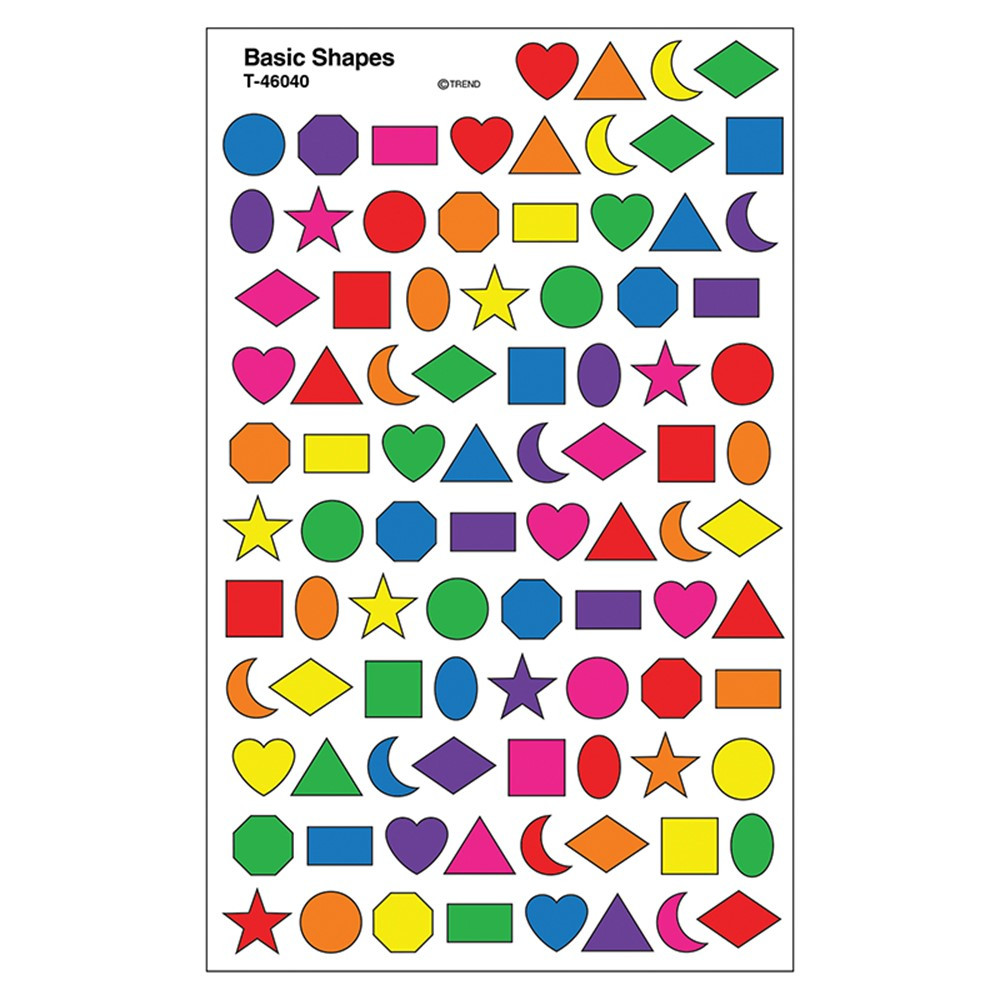 T-46040 - Sticker Basic Shapes Supershapes in Stickers