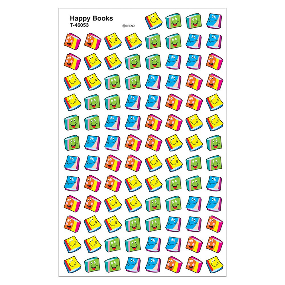 T-46053 - Happy Books Supershapes in Stickers
