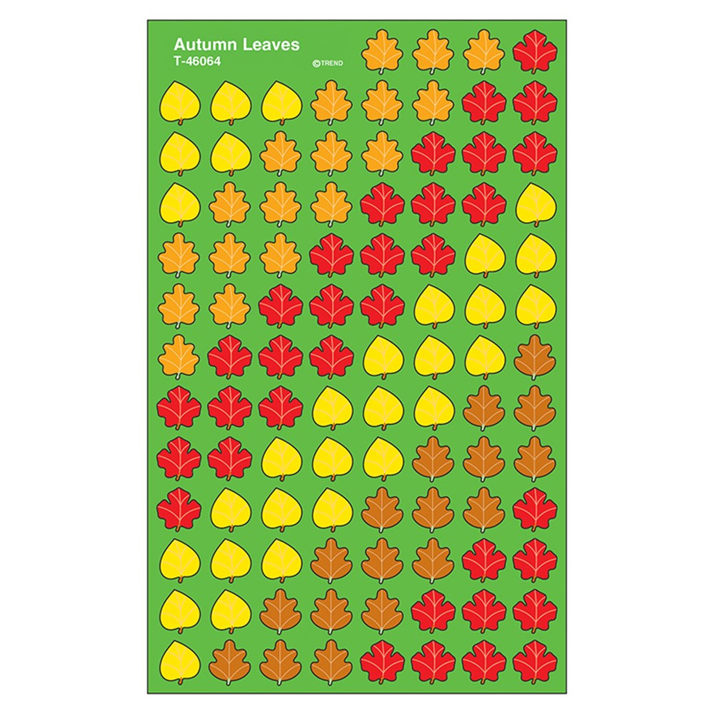 T-46064 - Supershapes Stickers Autumn 800/Pk Leaves in Holiday/seasonal