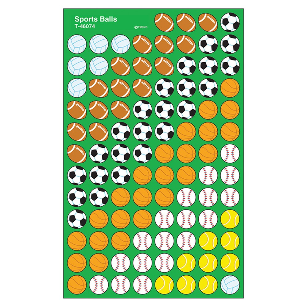 T-46074 - Supershapes Stickers Sports Ball in Physical Fitness