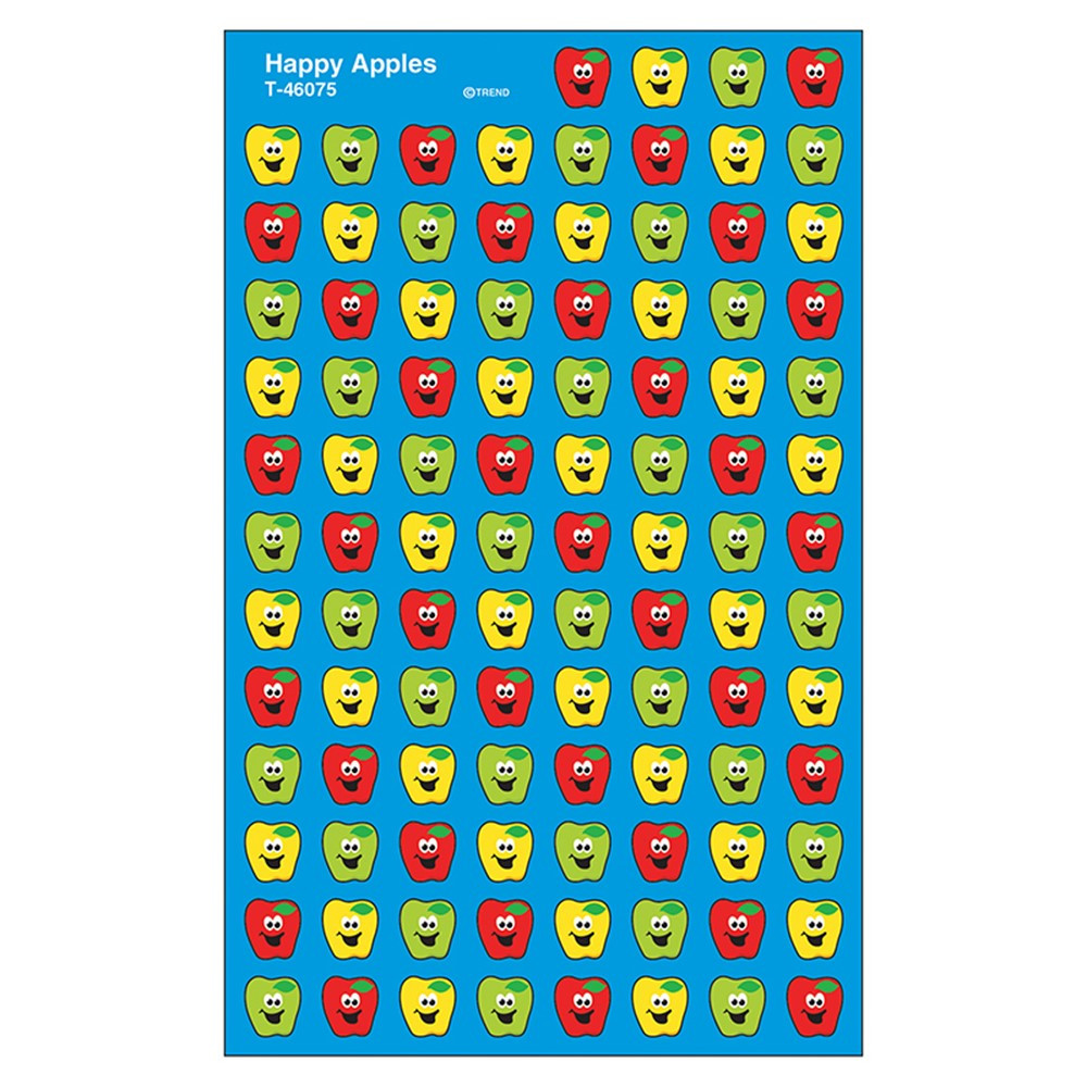 T-46075 - Happy Apples Supershape Superspots/Shapes Stickers in Stickers