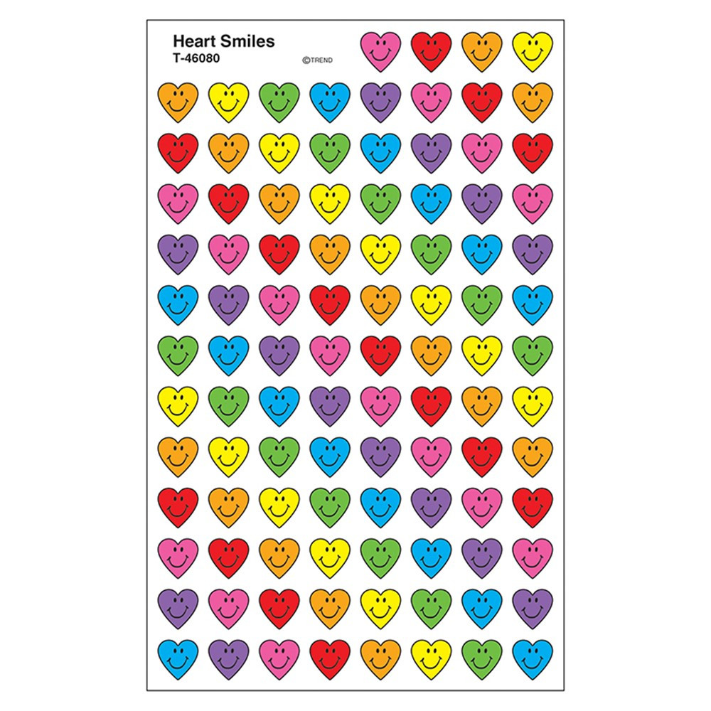 T-46080 - Heart Smiles Supershape Superspots Shapes Stickers in Stickers