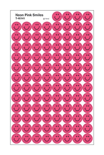 T-46141 - Neon Pink Smiles Superspots in Stickers