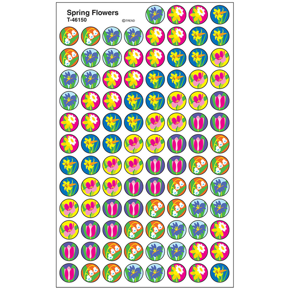 T-46150 - Superspots Stickers Spring Flowers in Holiday/seasonal