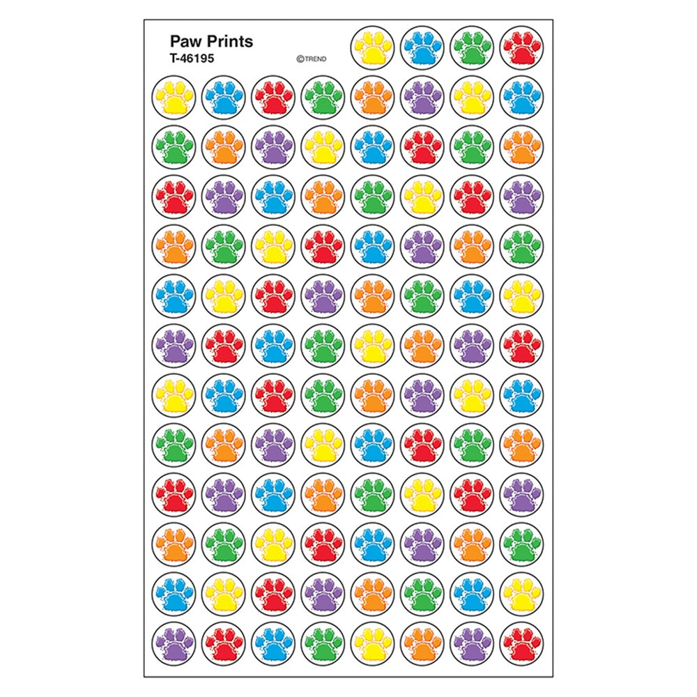 T-46195 - Paw Prints Superspots Stickers in Stickers