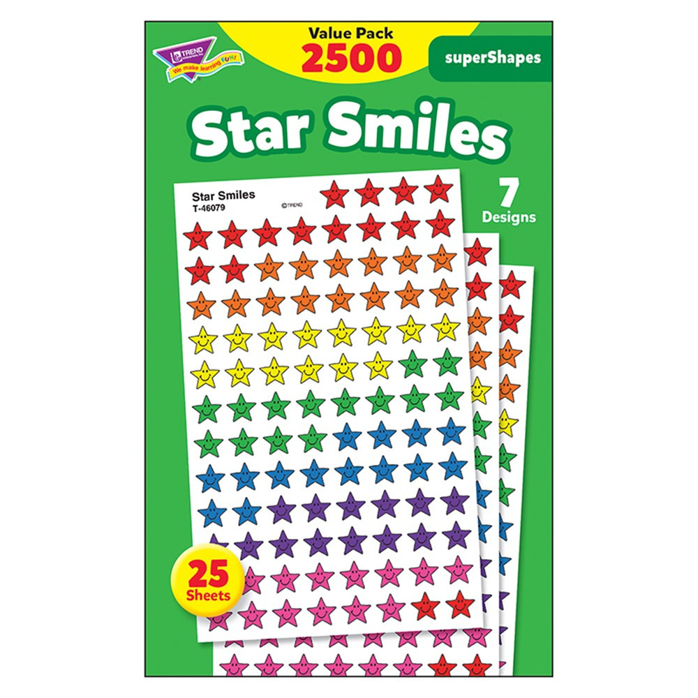T-46917 - Star Smiles Value Pk Superspots Shapes Stickers in Stickers