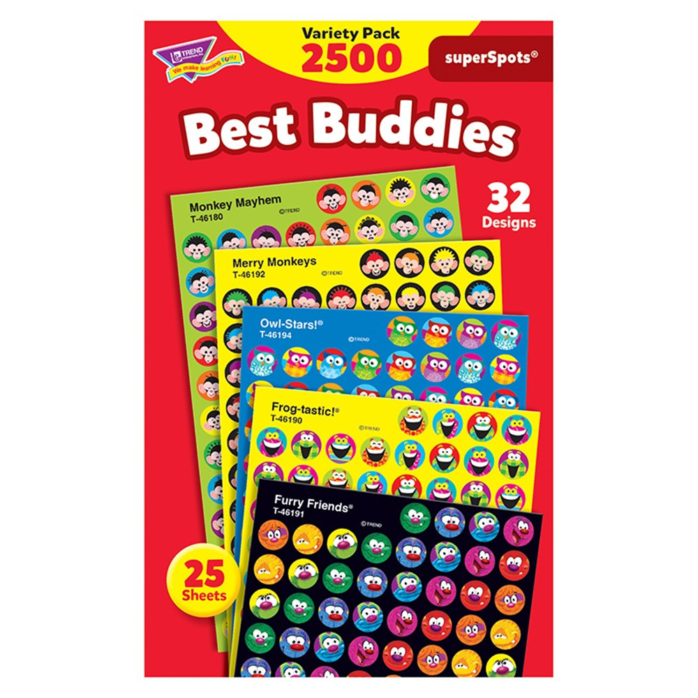 T-46919 - Best Buddies Collection Superspots Stickers Variety Pk in Stickers