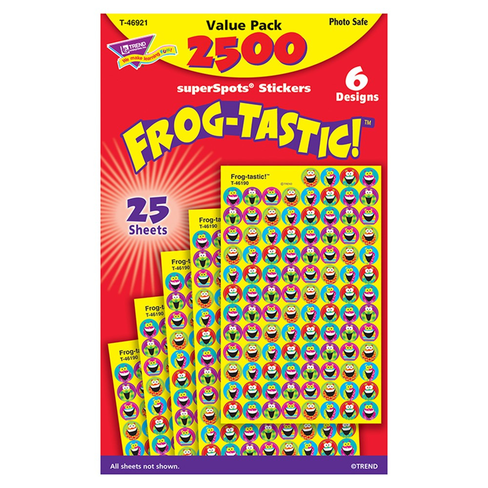 T-46921 - Frog Tastic Superspots Stickers Value Pack in Stickers