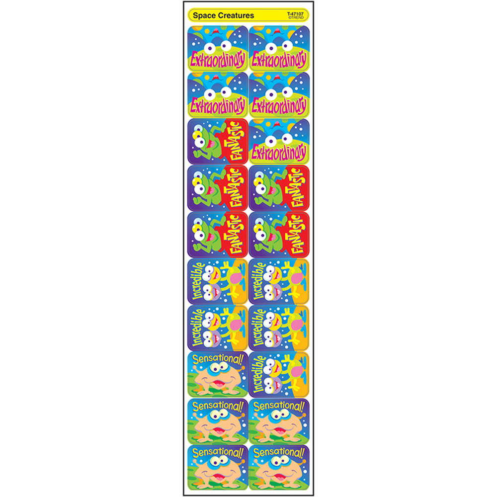 T-47107 - Applause Stickers Space Creatures in Science