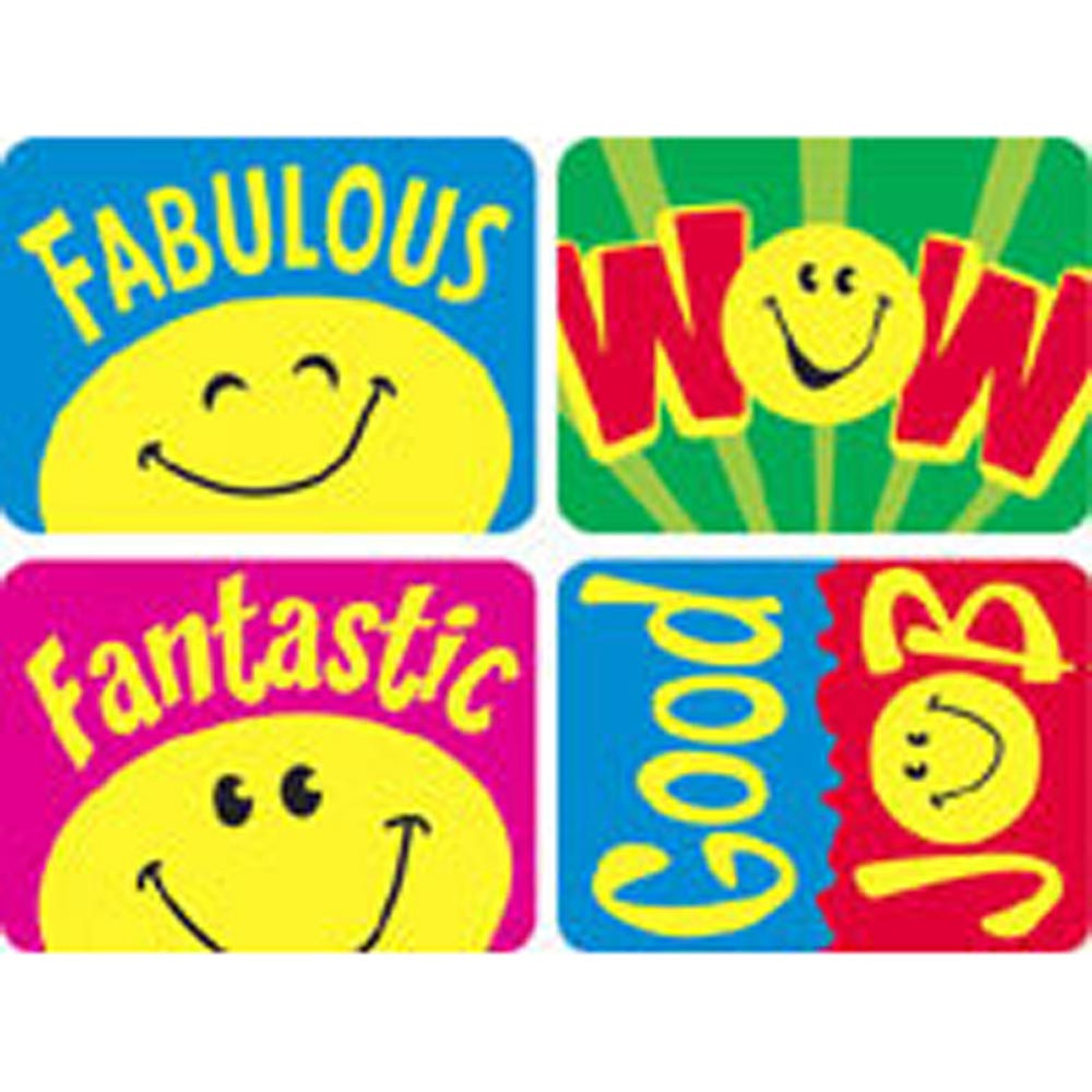 T-47157 - Applause Stickers Smiley Faces in Stickers