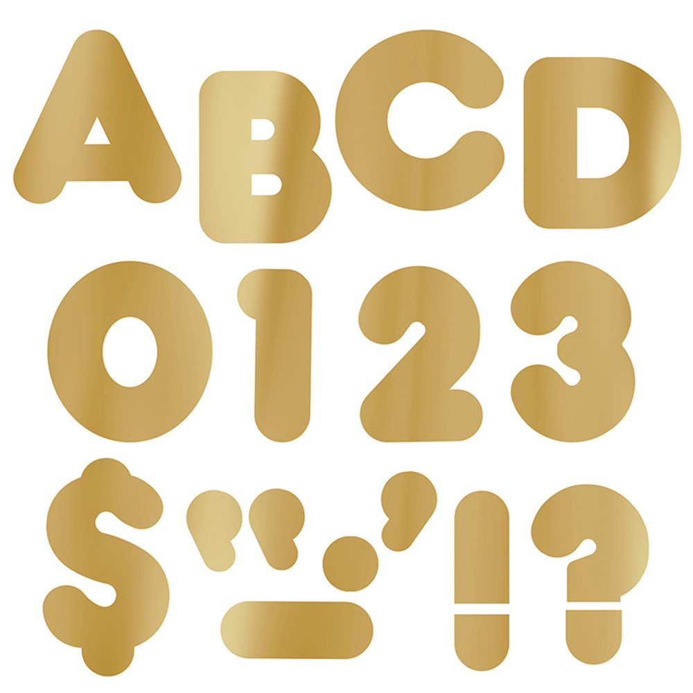 T-479 - Ready Letters 4 Casual Metallic Gold in Letters