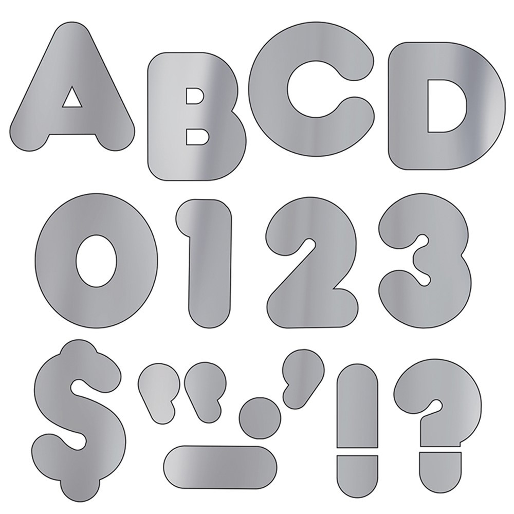 T-494 - Ready Letters 2 Casual Metallic Silver in Letters