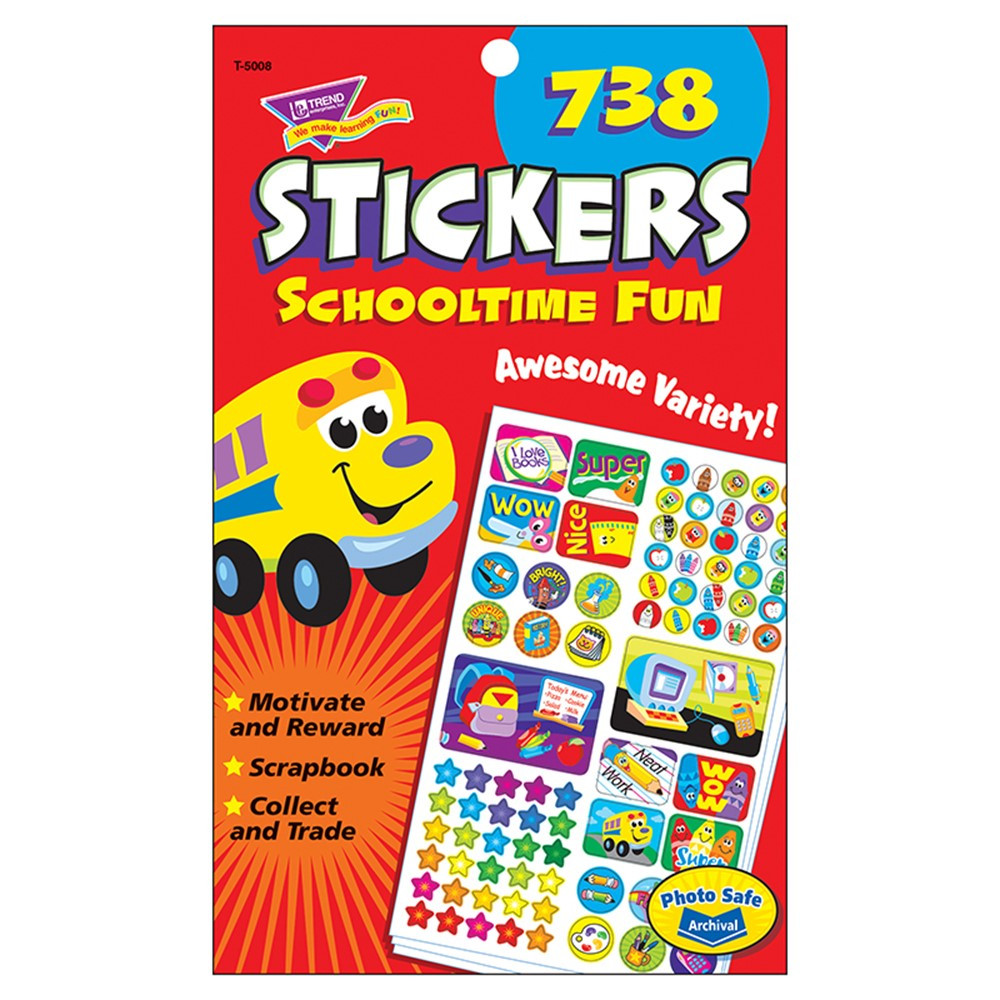 T-5008 - Sticker Pad Schooltime Fun in Stickers