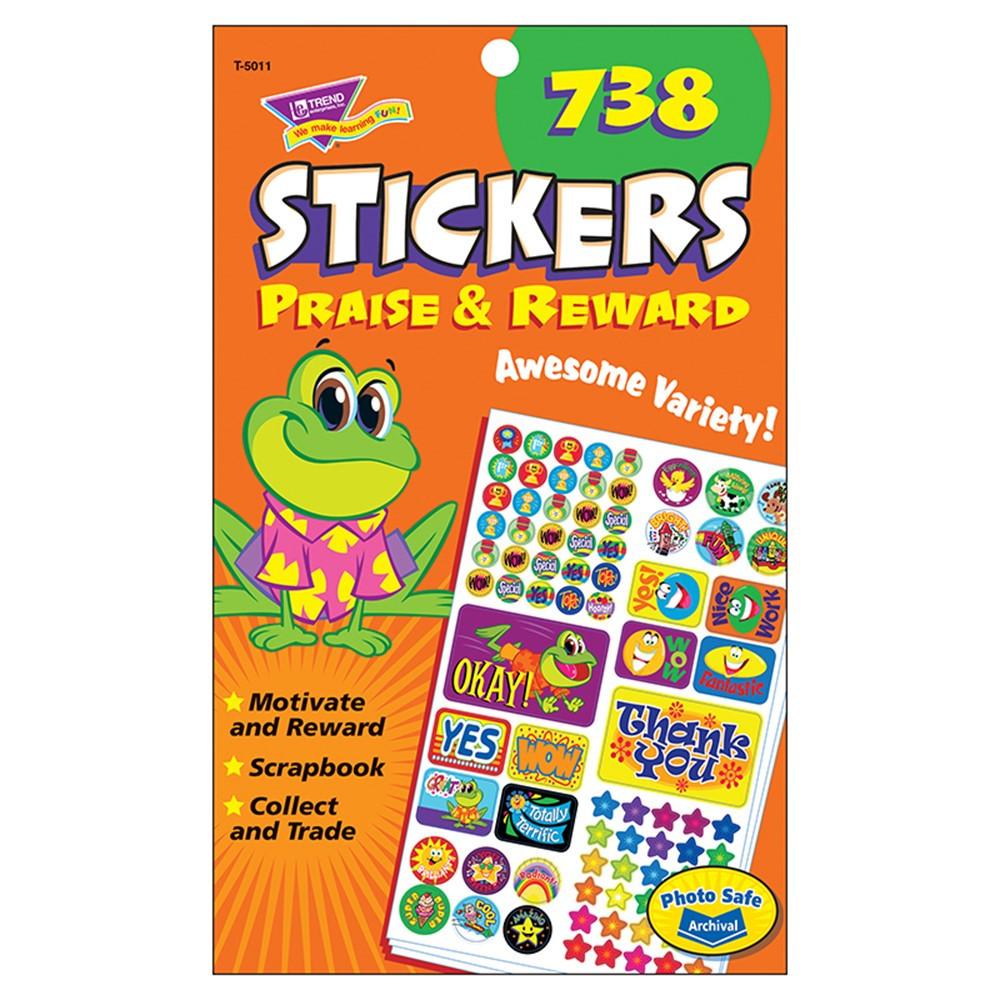 T-5011 - Praise & Reward Spd Sticker Pads in Stickers
