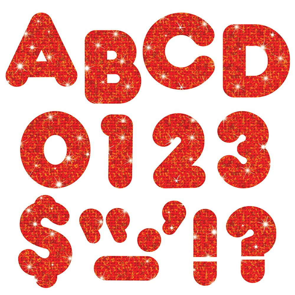 T-507 - Ready Letters 2 Casual Red Sparkle in Letters