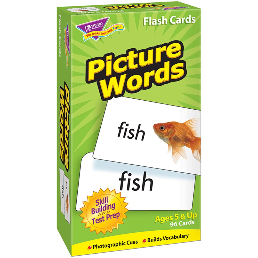 T-53004 - Flash Cards Picture Words 96/Box in Word Skills