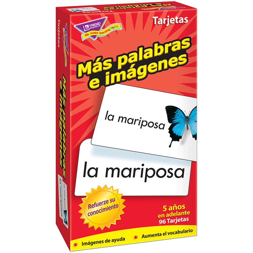 T-53007 - Flash Cards Mas Palabras E 96/Box Imagenes in Flash Cards