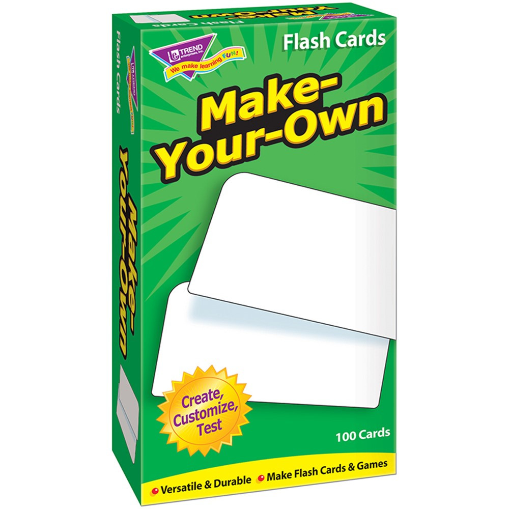 T-53010 - Flash Cards Make Your Own 100/Box in Flash Cards