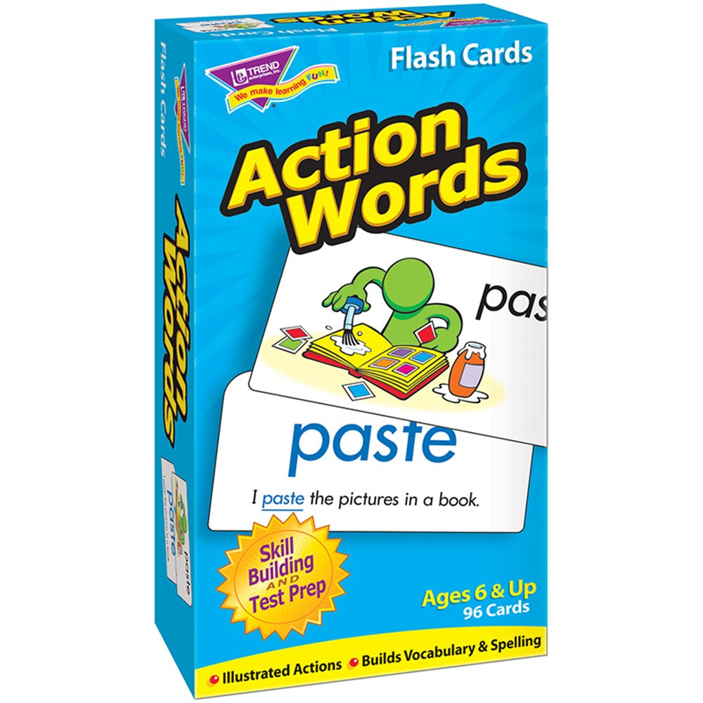 T-53013 - Flash Cards Action Words 96/Box in Word Skills
