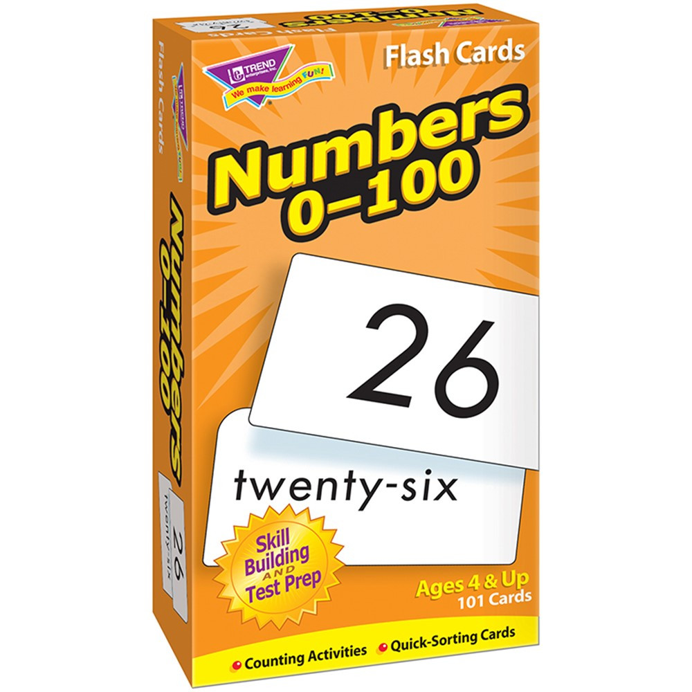 T-53107 - Flash Cards Numbers 0-100 101/Box in Flash Cards
