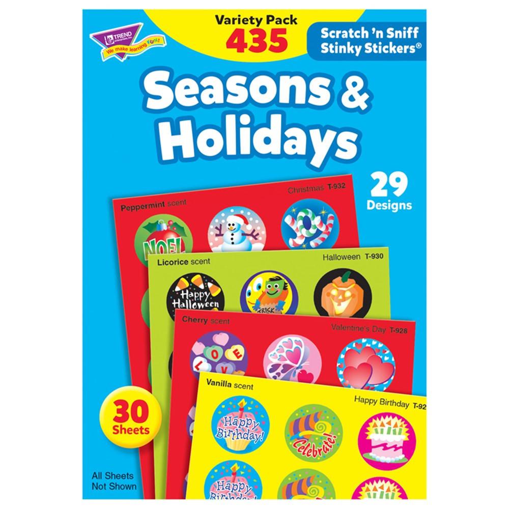 T-580 - Stinky Stickers Seasons & 432/Pk Holidays Jumbo Variety in Holiday/seasonal