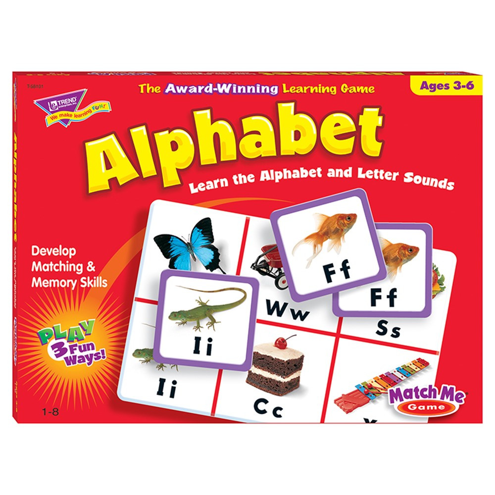 T-58101 - Match Me Game Alphabet Ages 3 & Up 1-8 Players in Card Games