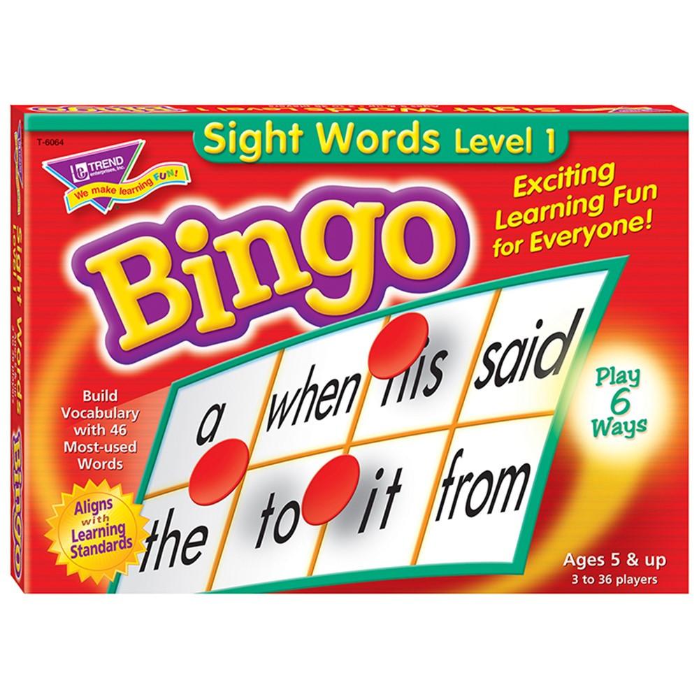 T-6064 - Bingo Sight Words Ages 5 & Up in Bingo