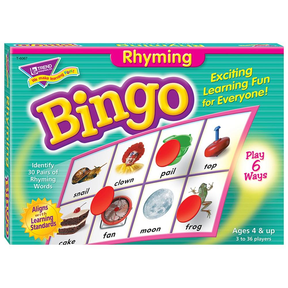 T-6067 - Bingo Rhyming Ages 4 & Up in Bingo