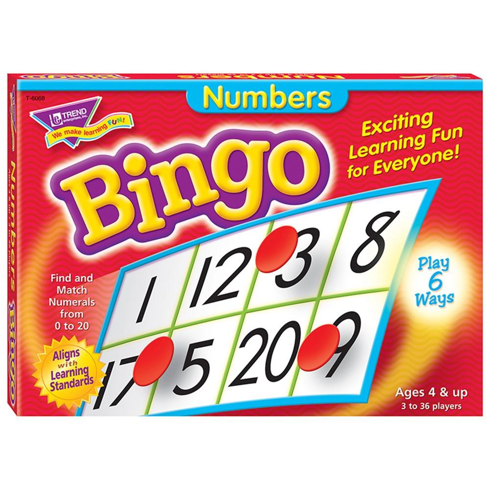 T-6068 - Bingo Numbers Ages 4 & Up in Bingo