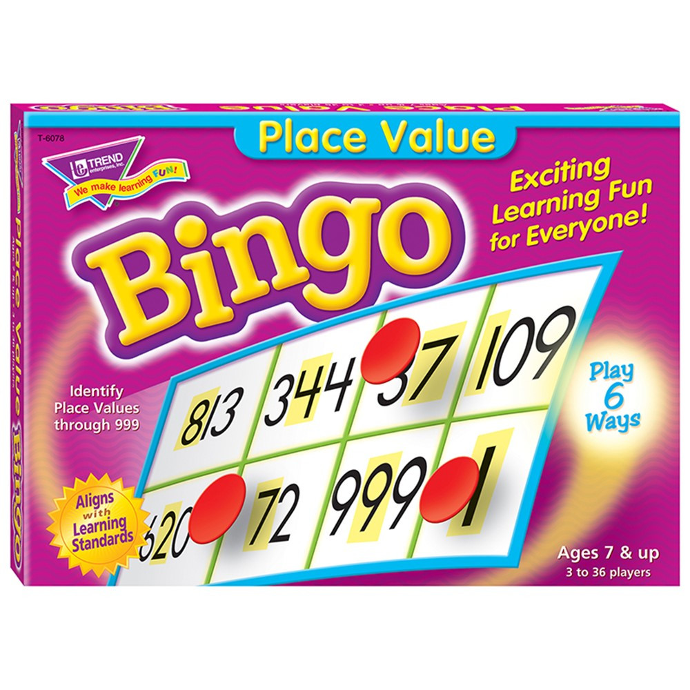 T-6078 - Place Value Bingo Game in Bingo