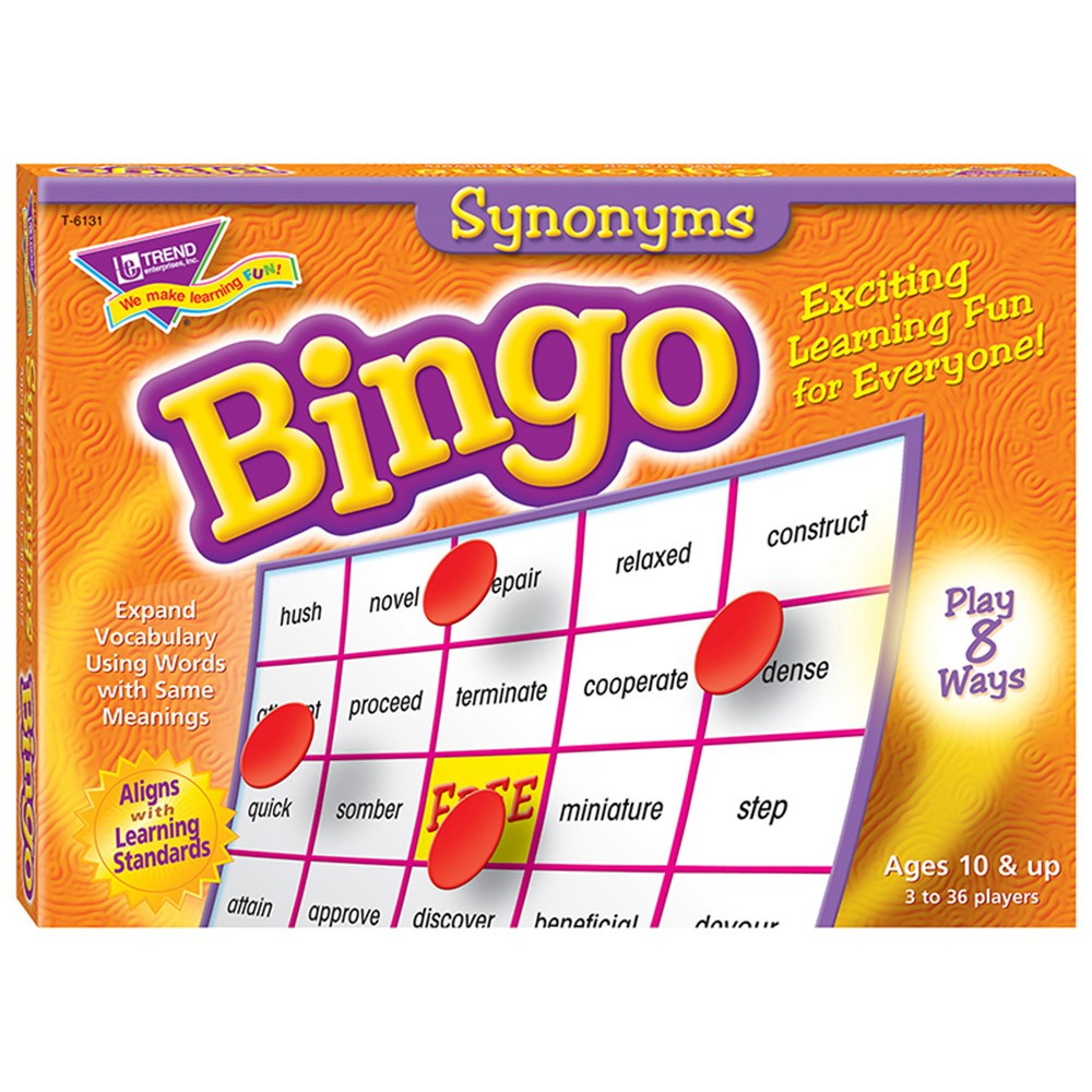 T-6131 - Bingo Synonyms Ages 10 & Up in Bingo