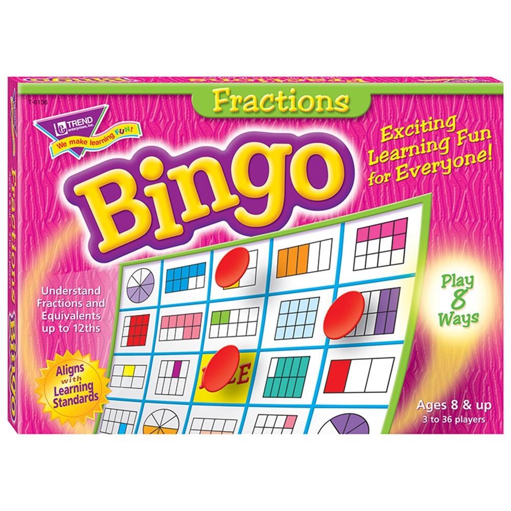 T-6136 - Bingo Fractions Ages 10 & Up in Bingo