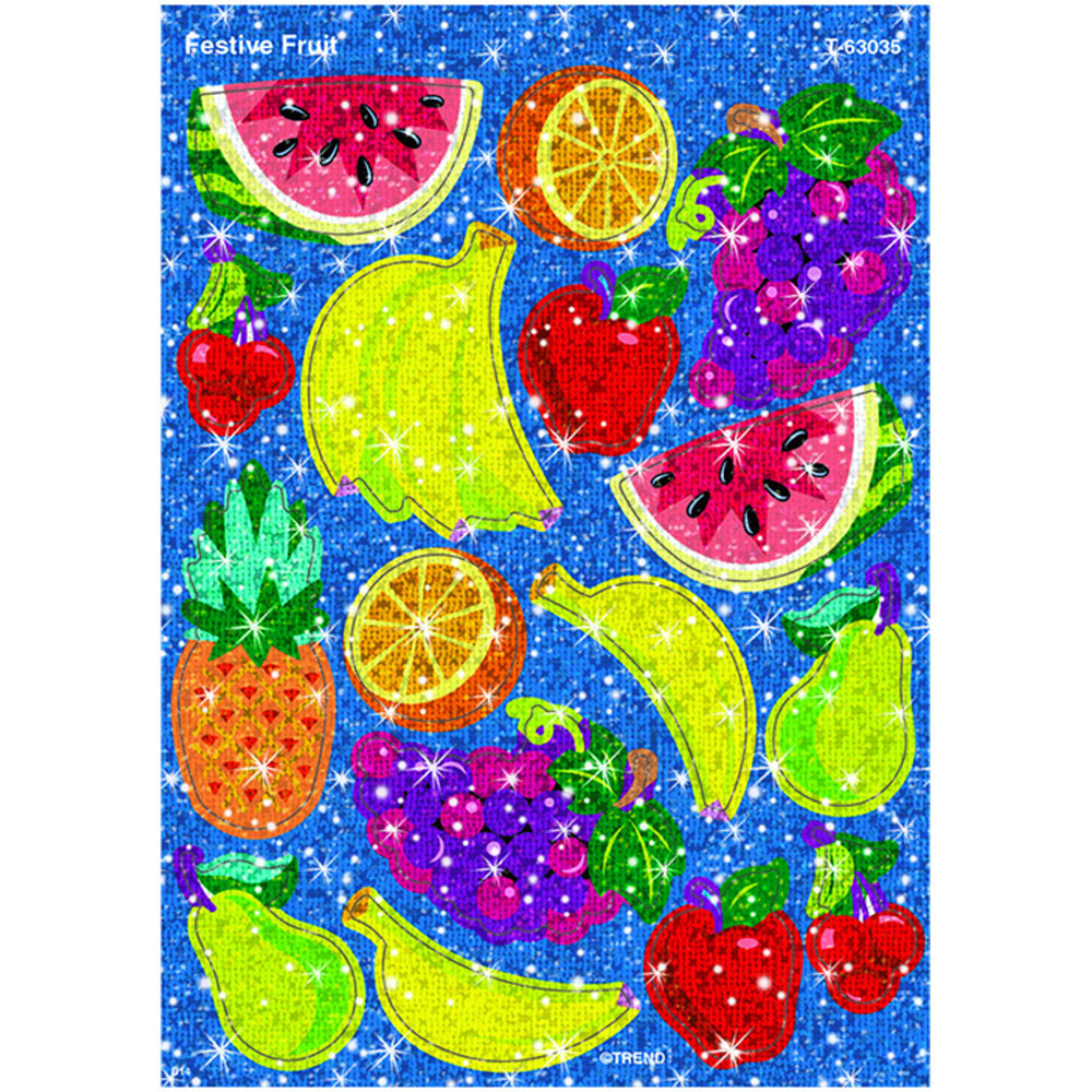T-63035 - Festive Fruit Sparkle Stickers in Stickers