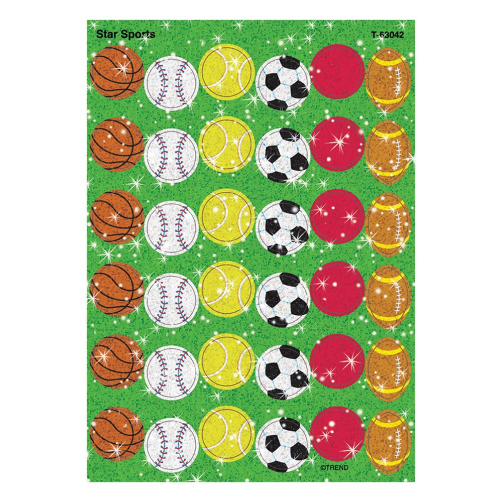 T-63042 - Sparkle Stickers Star Sports in Physical Fitness