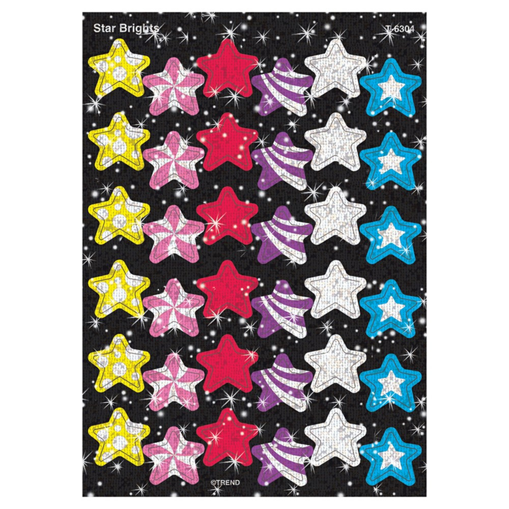 T-6304 - Sparkle Stickers Star Brights in Stickers