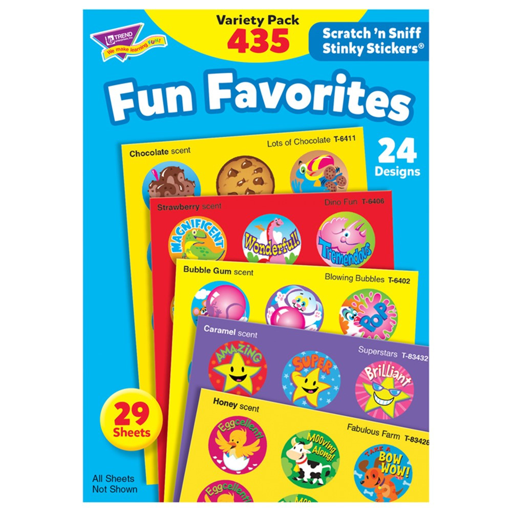 T-6491 - Stinky Stickers Fun Favorites 435Pk Jumbo Acid-Free Variety Pk in Stickers