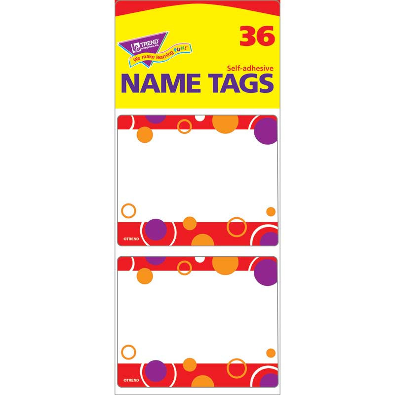 T-68038 - Red Fizz Name Tags in Name Tags